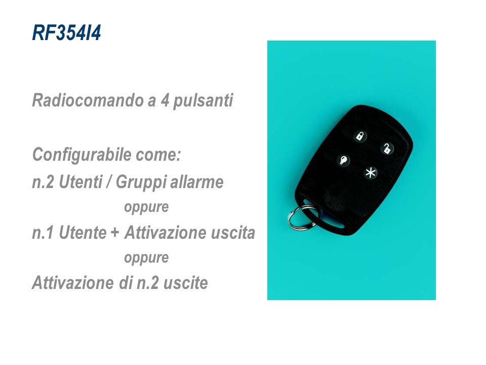 RF354I4 Radiocomando a 4 pulsanti Configurabile come: