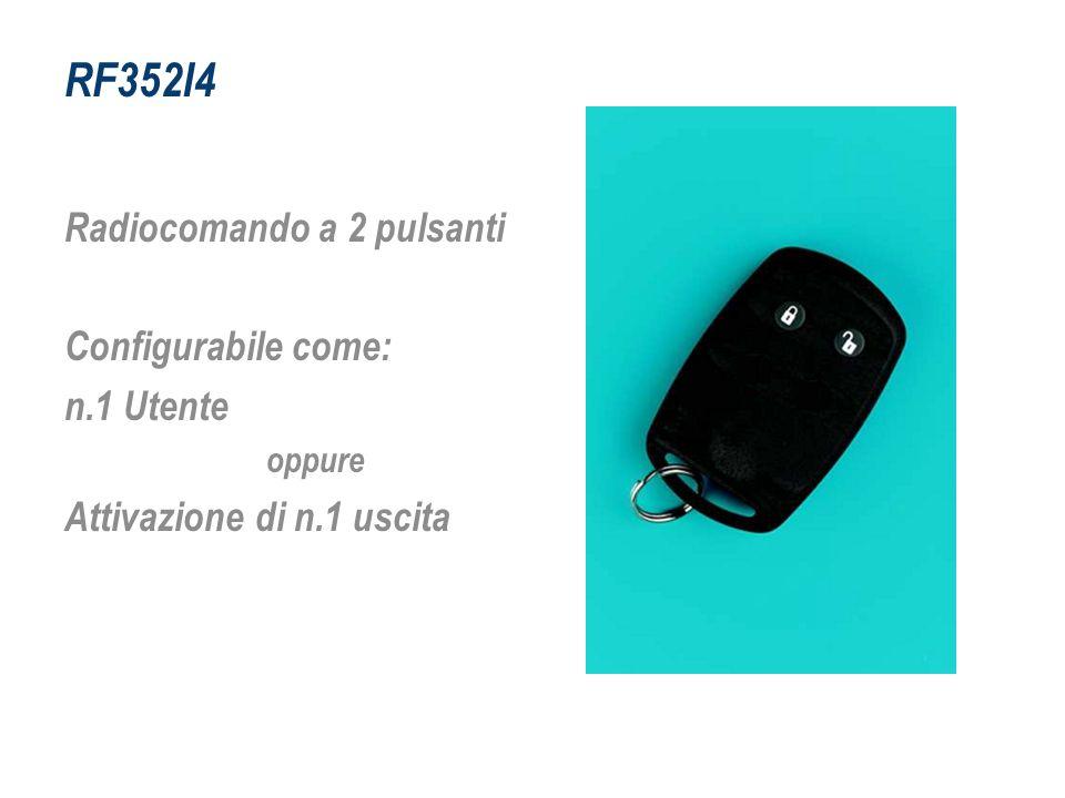 RF352I4 Radiocomando a 2 pulsanti Configurabile come: n.1 Utente