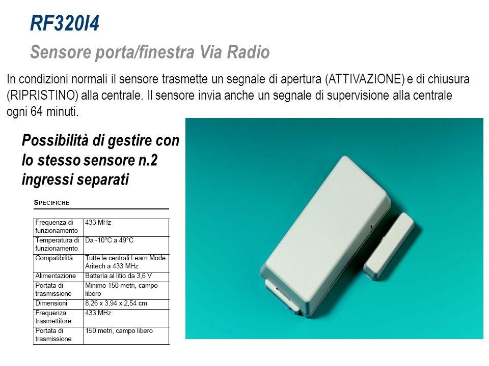 RF320I4 Sensore porta/finestra Via Radio