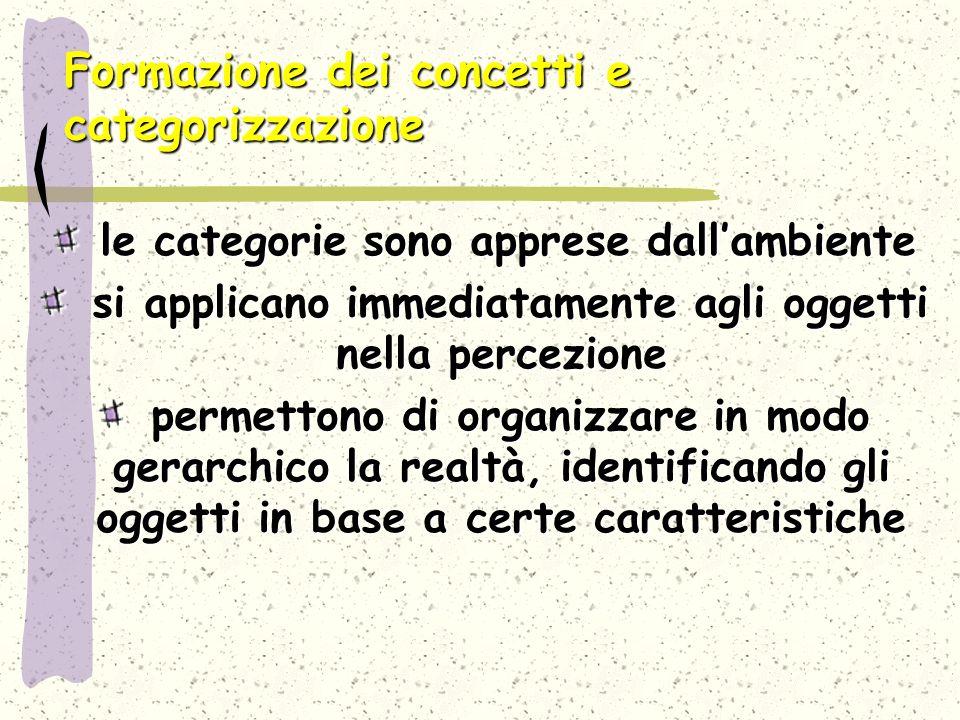 Formazione dei concetti e categorizzazione