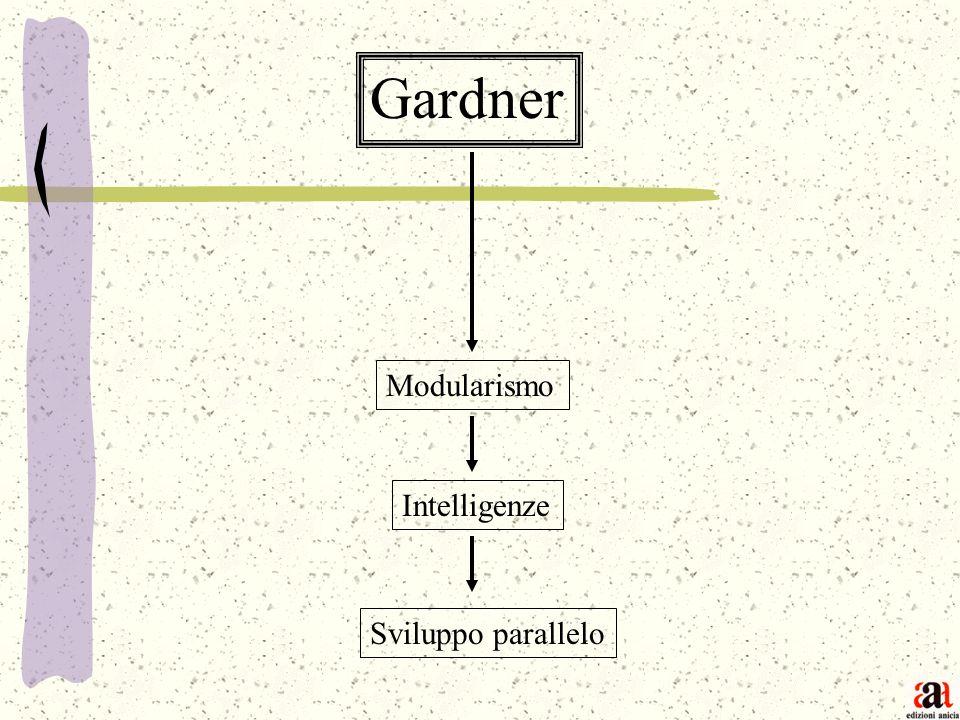 Gardner Modularismo Intelligenze Sviluppo parallelo