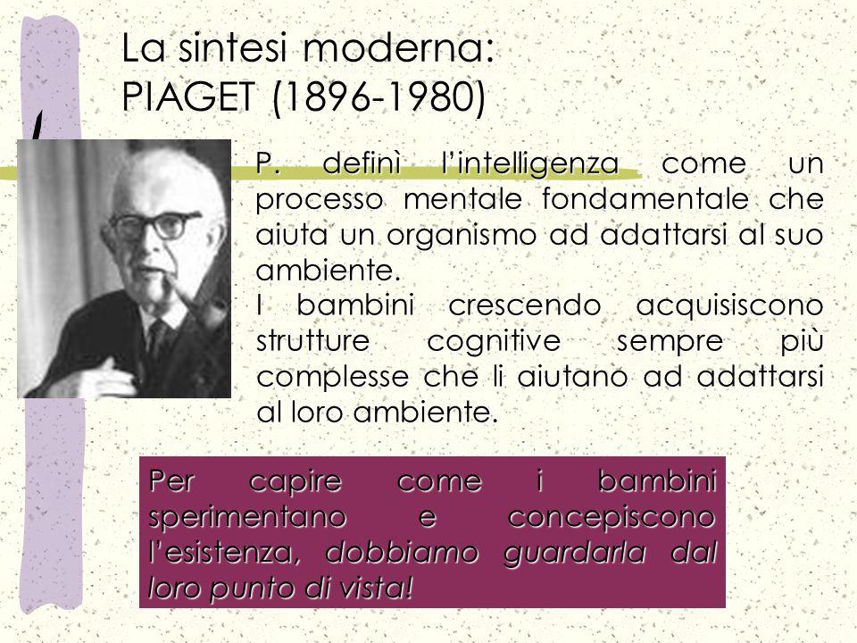 La sintesi moderna: PIAGET (1896-1980)