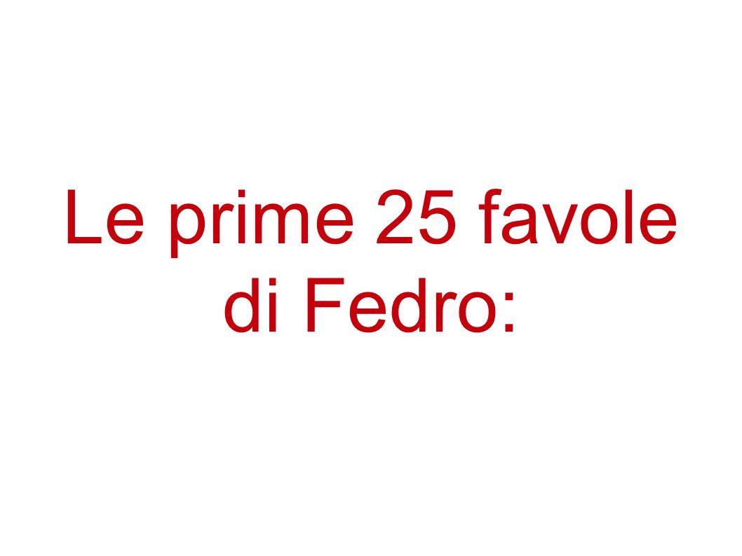 Le prime 25 favole di Fedro: