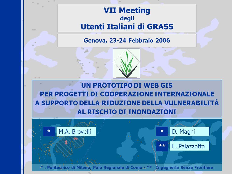 Utenti Italiani di GRASS PER PROGETTI DI COOPERAZIONE INTERNAZIONALE