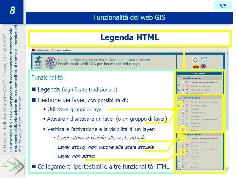 Funzionalità del web GIS