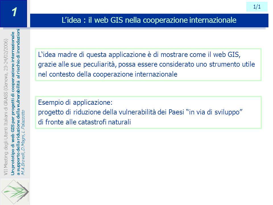 L' idea : il web GIS nella cooperazione internazionale