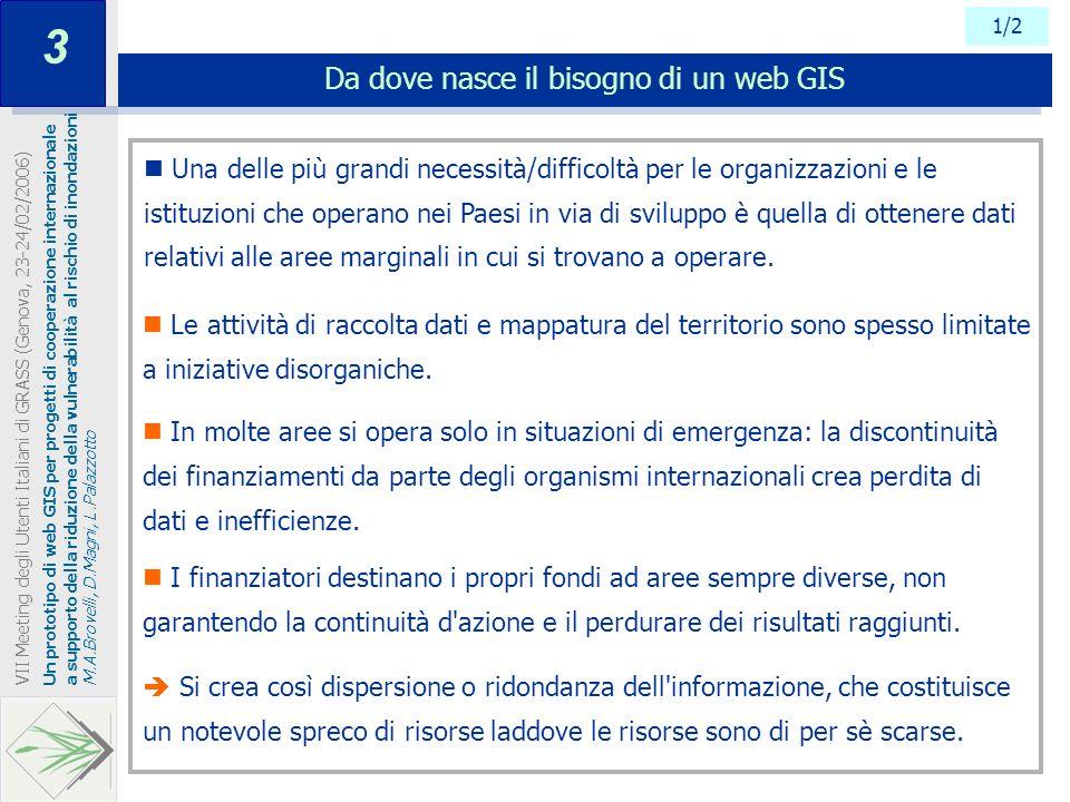 Da dove nasce il bisogno di un web GIS