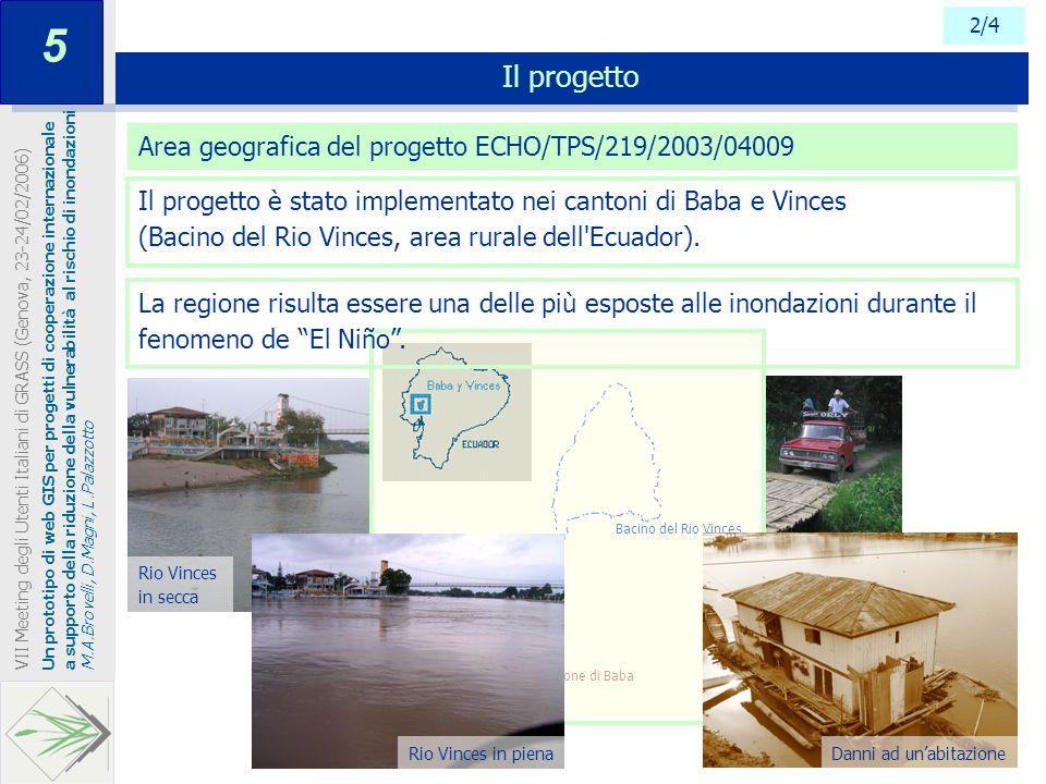 5 Il progetto Area geografica del progetto ECHO/TPS/219/2003/04009