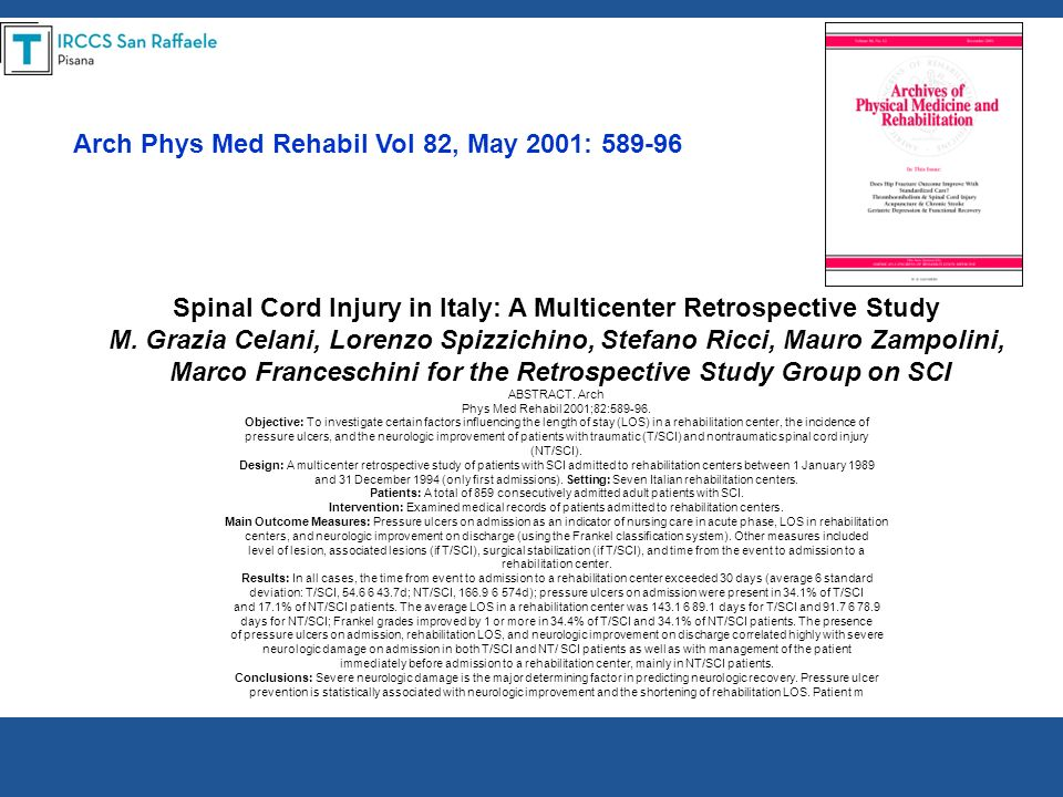Arch Phys Med Rehabil Vol 82, May 2001: 589-96
