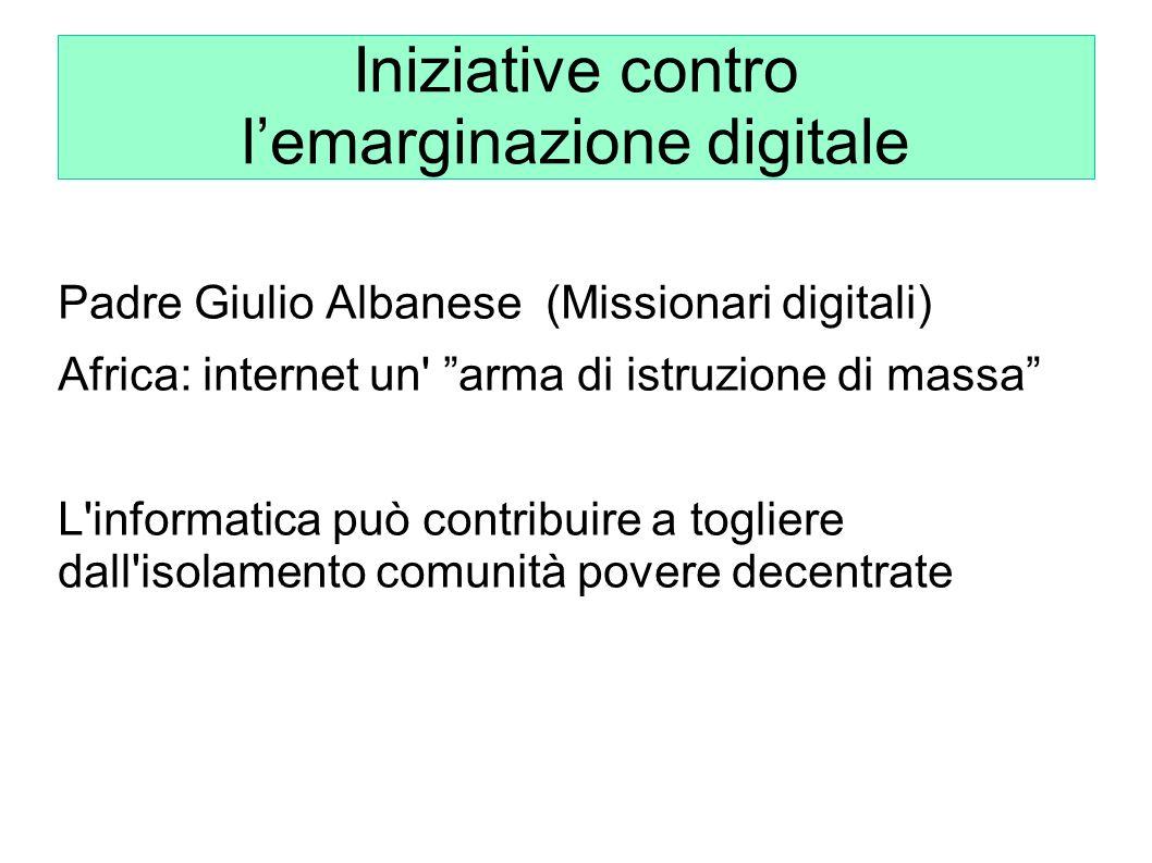 Iniziative contro l'emarginazione digitale