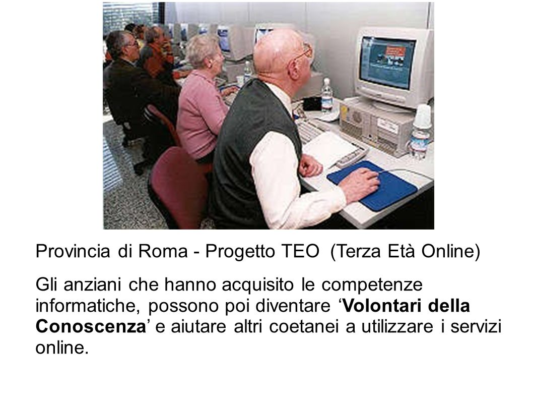 Provincia di Roma - Progetto TEO (Terza Età Online)