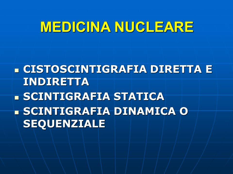 MEDICINA NUCLEARE CISTOSCINTIGRAFIA DIRETTA E INDIRETTA