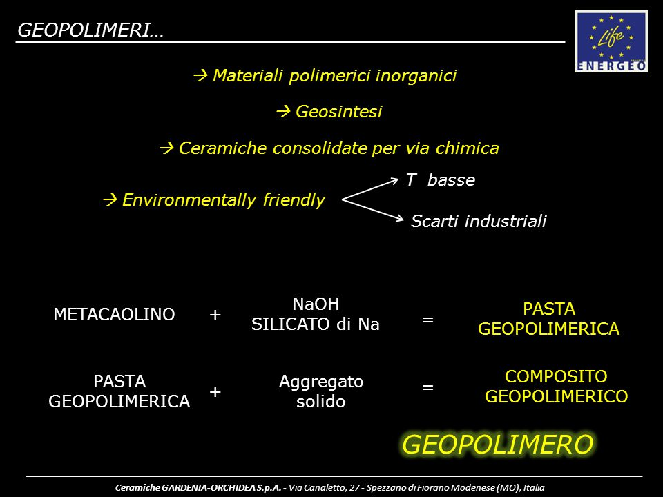 COMPOSITO GEOPOLIMERICO