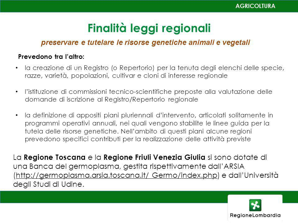 Finalità leggi regionali