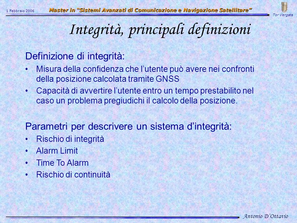 Integrità, principali definizioni