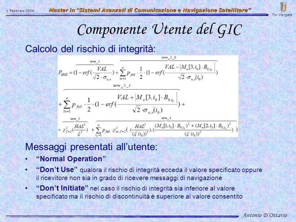 Componente Utente del GIC