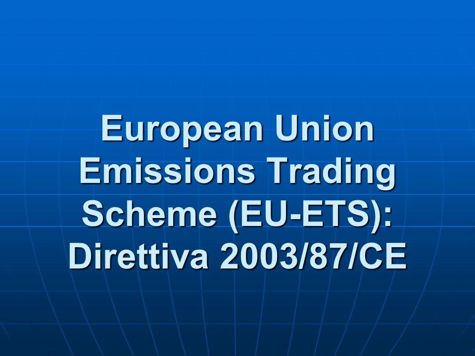 European Union Emissions Trading Scheme (EU-ETS): Direttiva 2003/87/CE