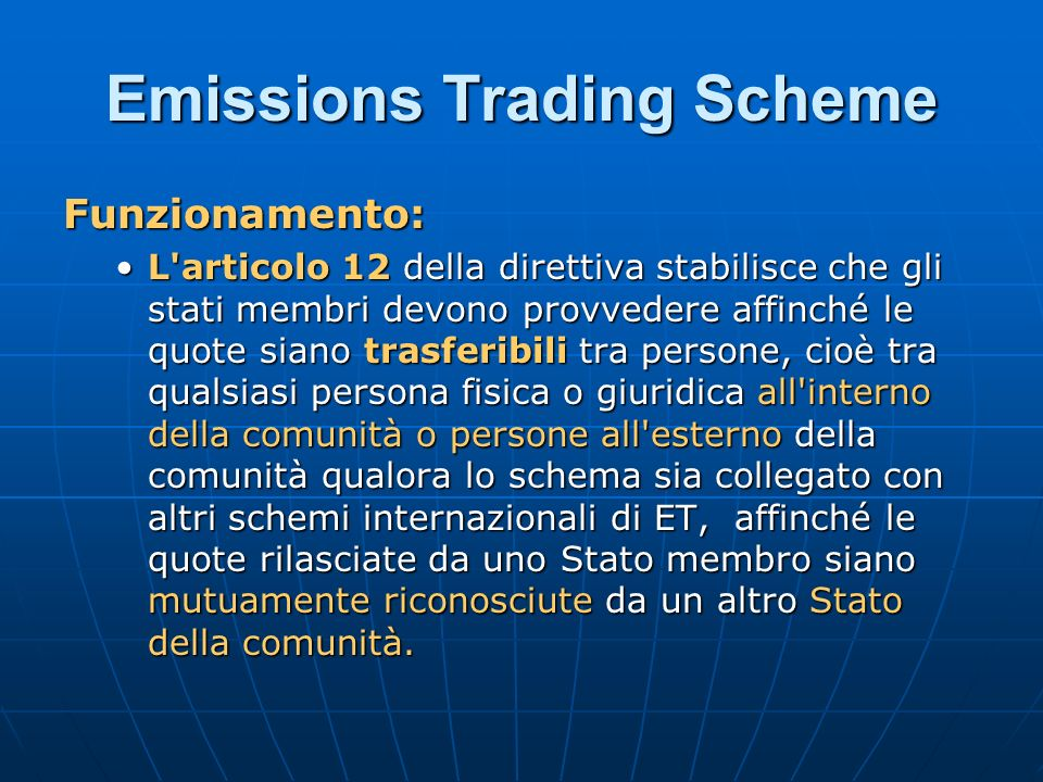 Emission trading system european union