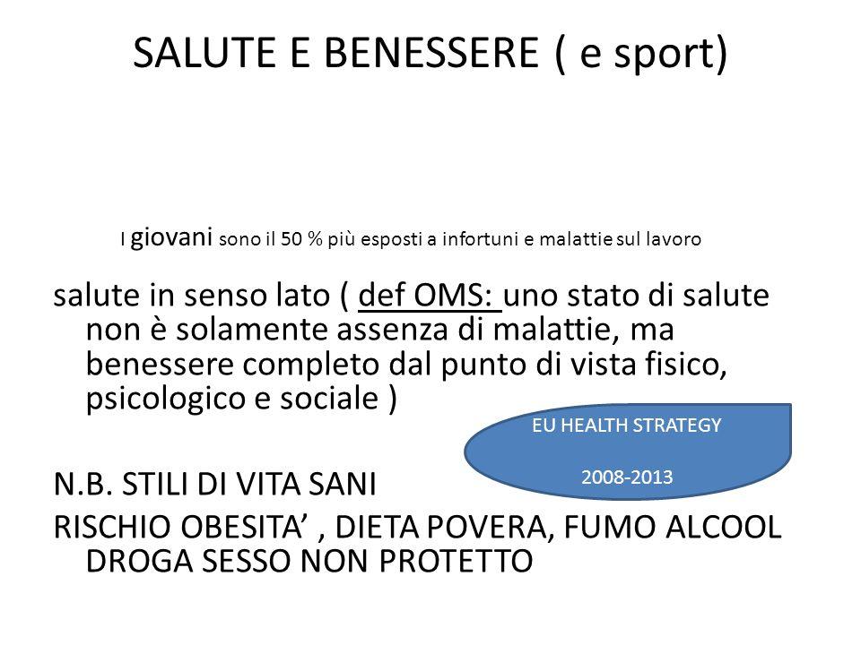 SALUTE E BENESSERE ( e sport)