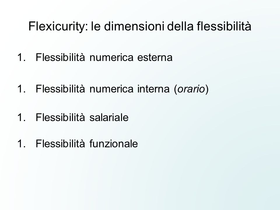 Flexicurity: le dimensioni della flessibilità