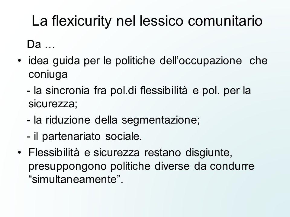 La flexicurity nel lessico comunitario