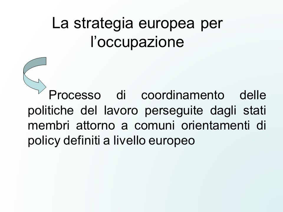 La strategia europea per l'occupazione