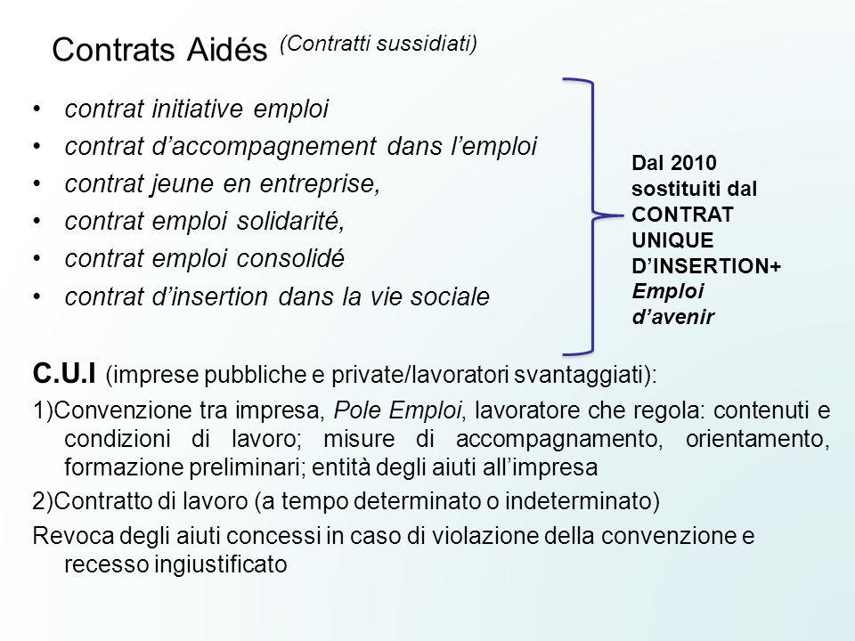 Contrats Aidés (Contratti sussidiati)