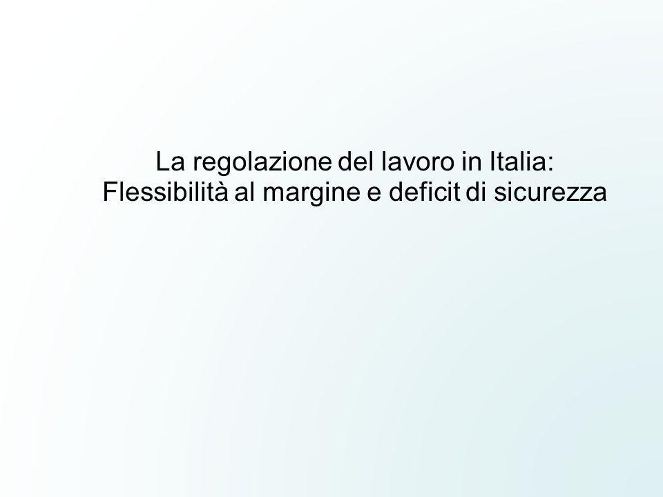 La regolazione del lavoro in Italia: