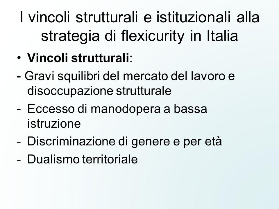 I vincoli strutturali e istituzionali alla strategia di flexicurity in Italia