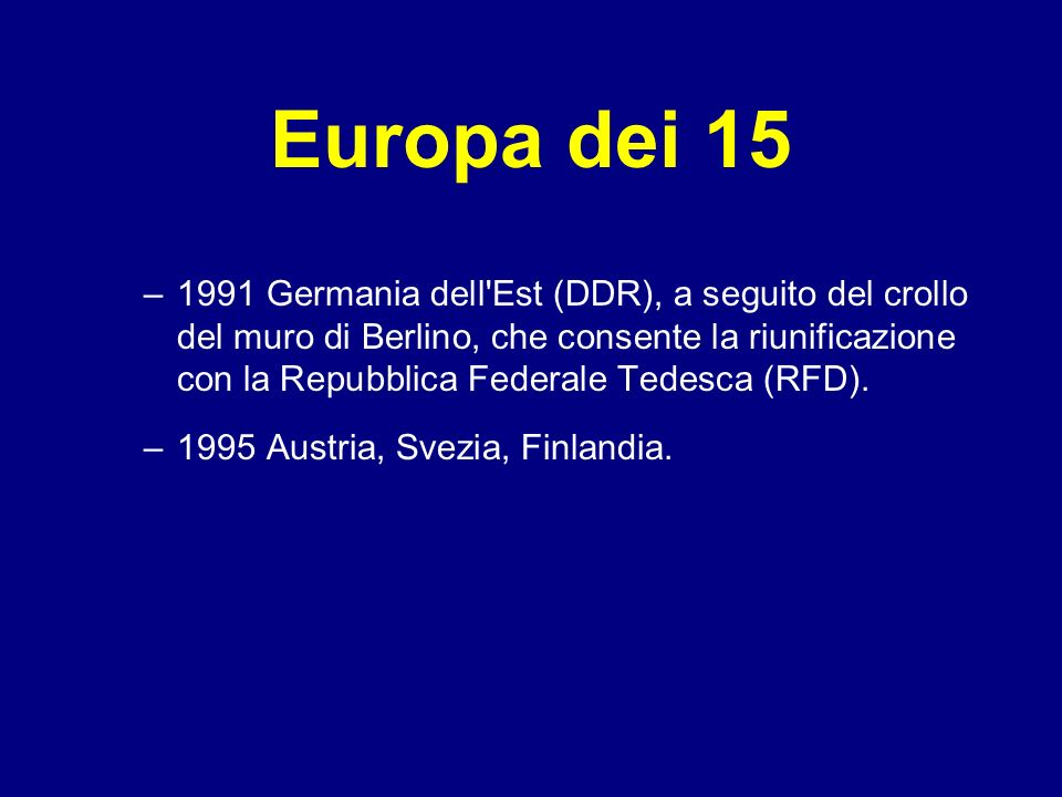 Europa dei 15