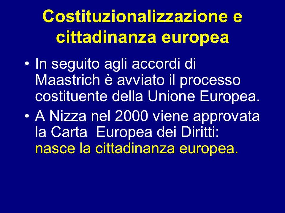 Costituzionalizzazione e cittadinanza europea