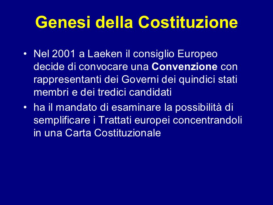 Genesi della Costituzione
