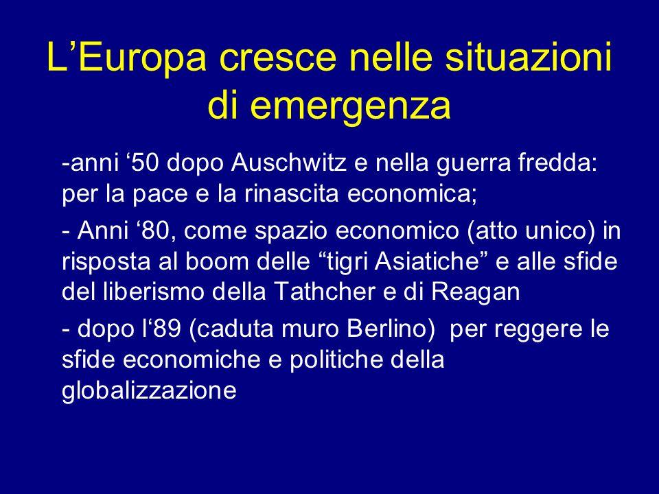 L'Europa cresce nelle situazioni di emergenza