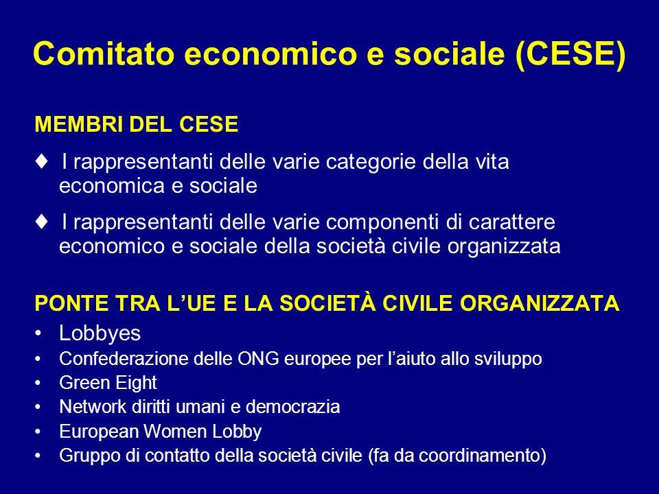 Comitato economico e sociale (CESE)