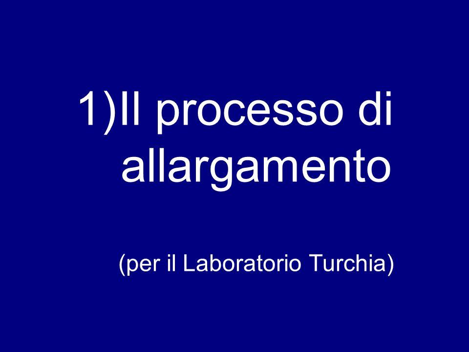 Il processo di allargamento (per il Laboratorio Turchia)