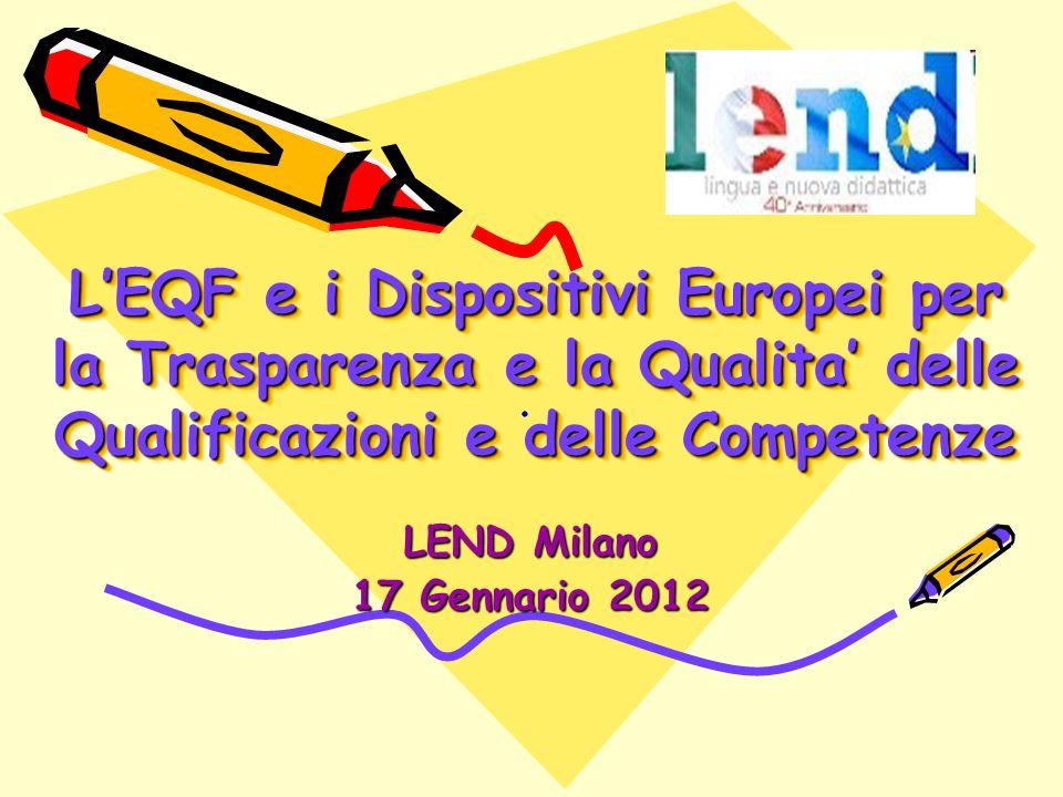 L'EQF e i Dispositivi Europei per la Trasparenza e la Qualita' delle Qualificazioni e delle Competenze