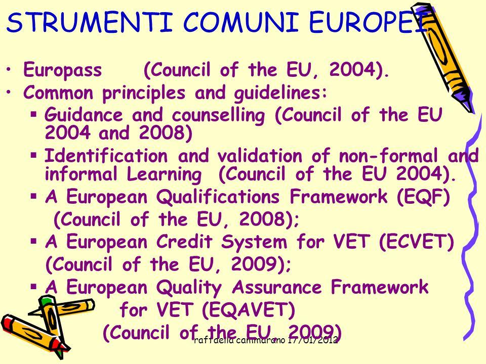 STRUMENTI COMUNI EUROPEI