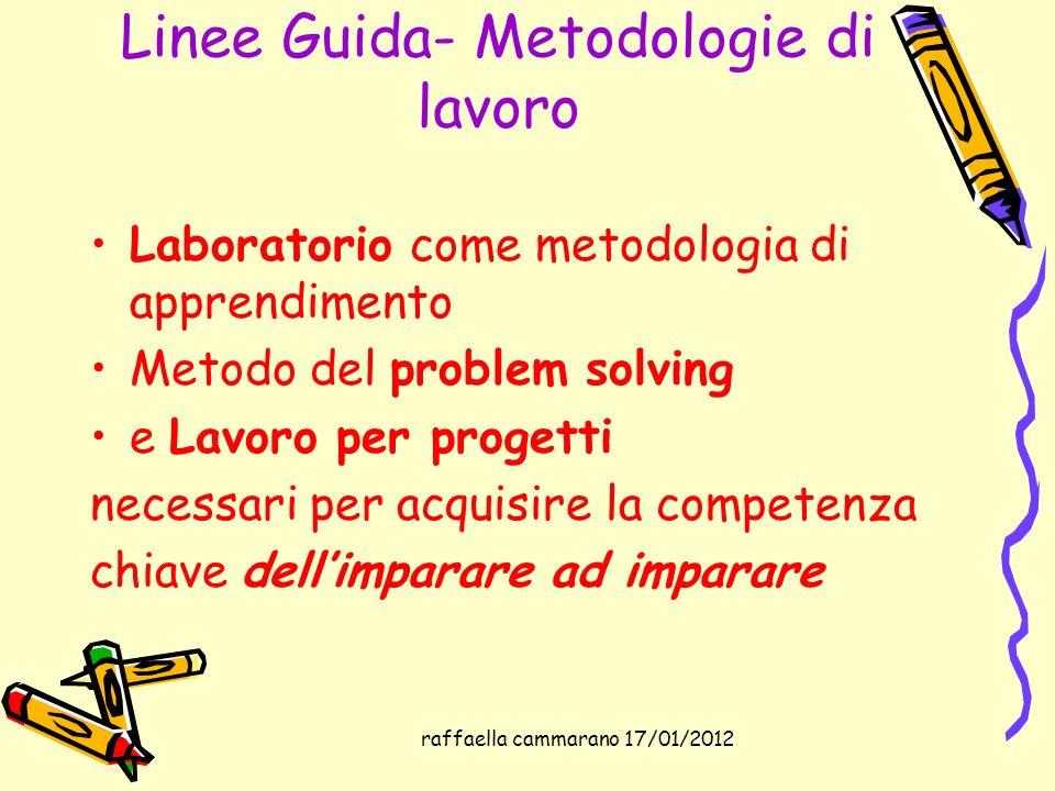 Linee Guida- Metodologie di lavoro