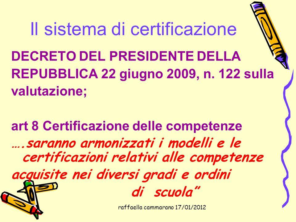Il sistema di certificazione