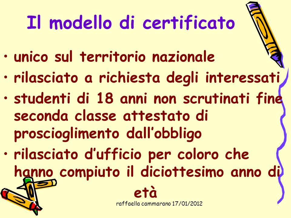 Il modello di certificato