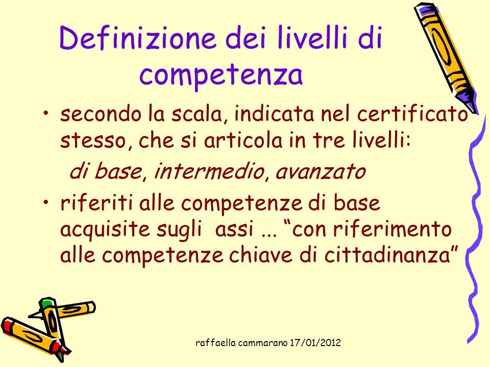 Definizione dei livelli di competenza