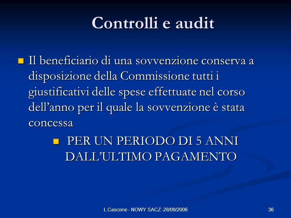 Controlli e audit