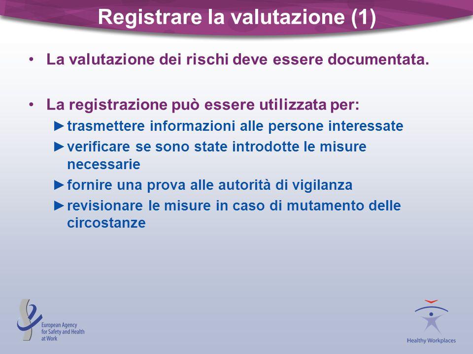 Registrare la valutazione (1)