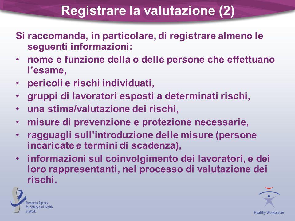 Registrare la valutazione (2)