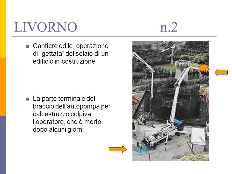 LIVORNO n.2 Cantiere edile, operazione di gettata del solaio di un edificio in costruzione.