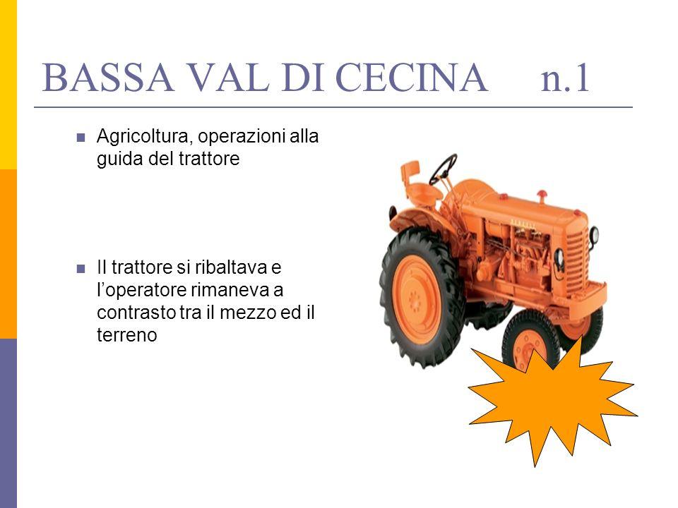 BASSA VAL DI CECINA n.1Agricoltura, operazioni alla guida del trattore.