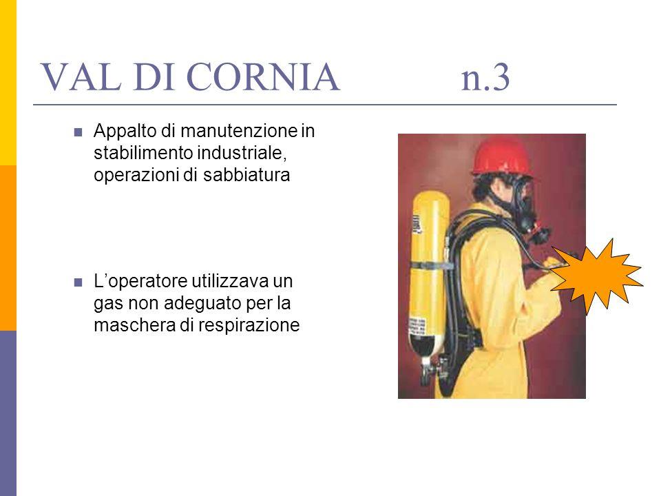 VAL DI CORNIA n.3 Appalto di manutenzione in stabilimento industriale, operazioni di sabbiatura.