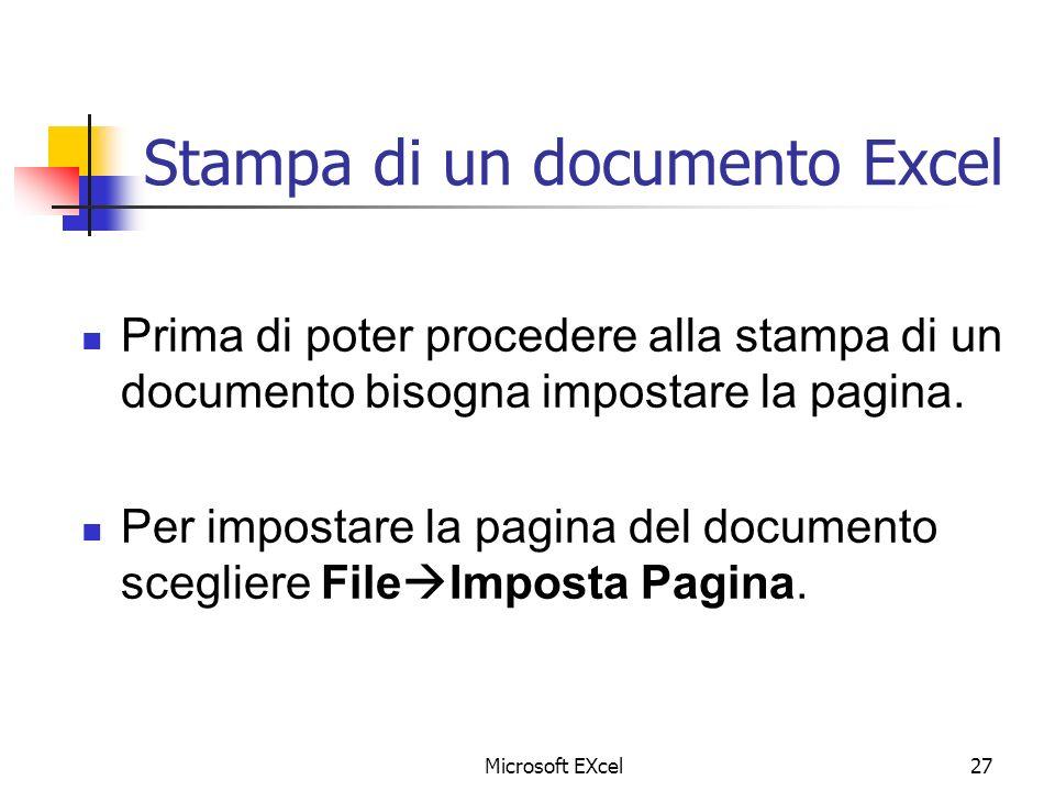 Stampa di un documento Excel