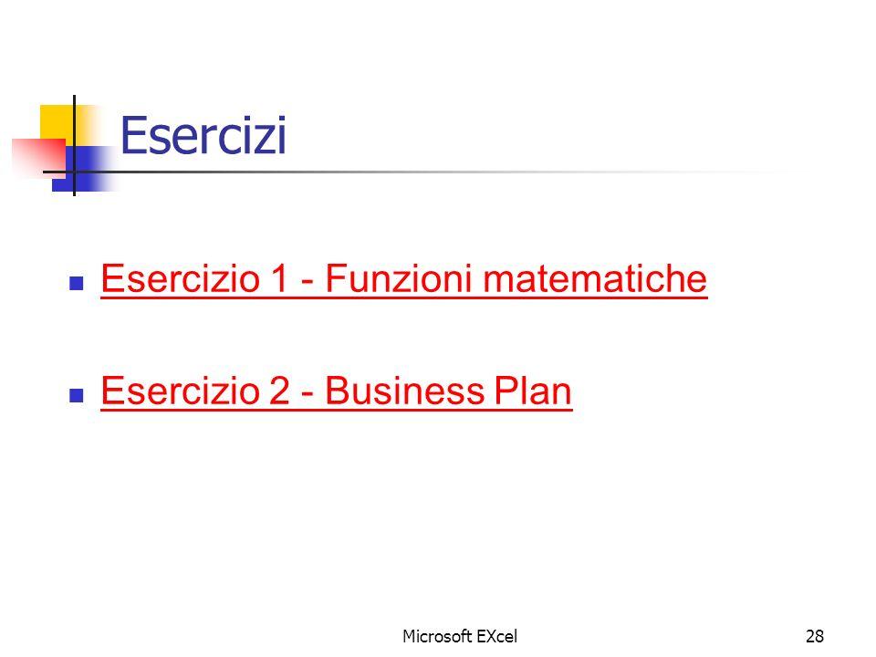Esercizi Esercizio 1 - Funzioni matematiche