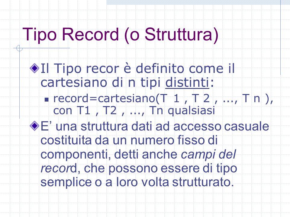 Tipo Record (o Struttura)